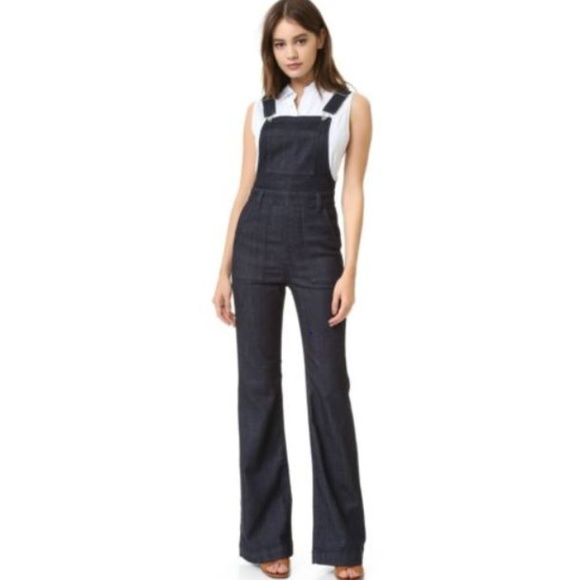 23ae6271f20c AG The Lolita High Rise Overall Flare Jumpsuit